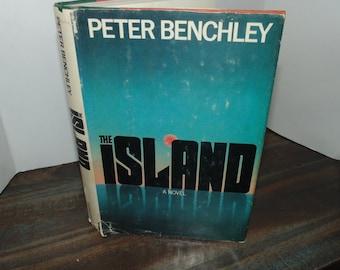 Vintage 1979 The Island a novel Peter Benchley HCDJ BCE Book Doubleday