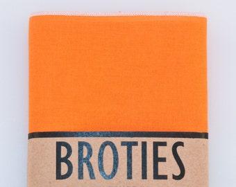 Pocket Square - Orange/White Edge