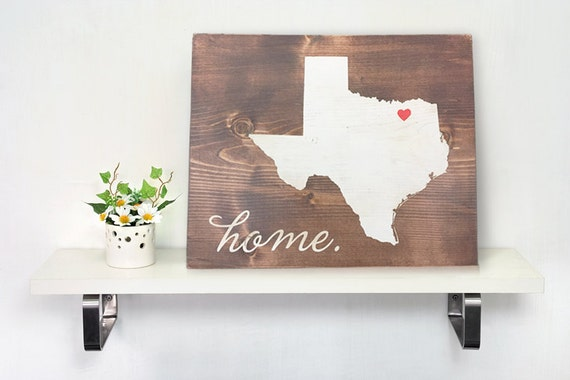 Items Similar To Texas Antique Map: Items Similar To Texas State Wood Art. Rustic Personalized