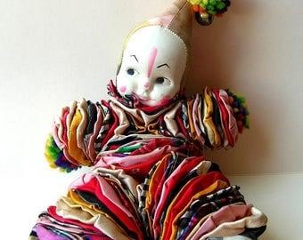 Creepy Vintage Yoyo Clown - Yoyo Doll