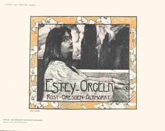Hans Unger-Estey Organs-1897 Lithograph