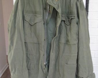 Vintage distressed Army green Military Jacket  Commando light utility jacket Cargo Grunge coat Olive Green Jacket  Vintage Camo Mens small