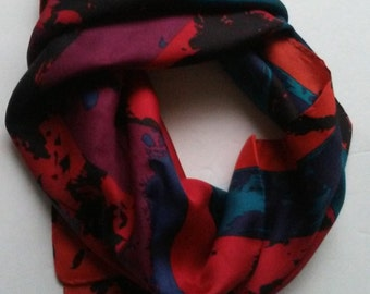 Liberty of London Abstract Silk Scarf