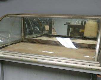 Antique Nickel Counter Top Small Showcase