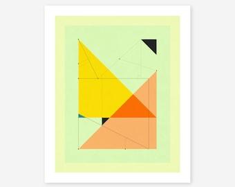 DELINEATION 105 (Giclée Fine art Print) Abstract, Geometric Artwork