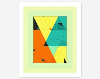 Giclée Fine art Print, Abstract, Geometric Artwork by Jazzberry Blue, DELINEATION (120)