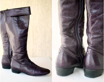 Vintage PLUM Genuine Leather Boots Size 39 EU