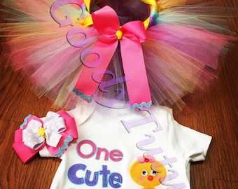 One Cute Chick Tutu Set
