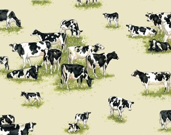 Fat Quarter Farm Animals Cows 100% Cotton Quilting Fabric Makower
