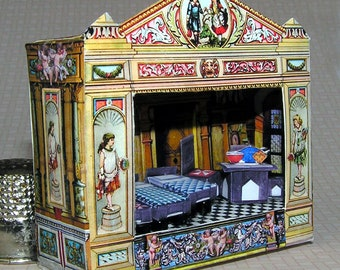 Theatre, DIY kit from paper in miniature for the Doll House, Doll House, dollhouse miniatures # 40080