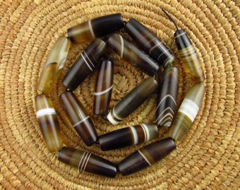 Antique German Banded Agate Beads
