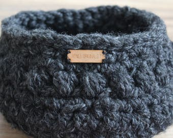 Ready to ship Small Basket, Home decor,  Baby storage - Crochet basket - Produce bowl, Decorative storage