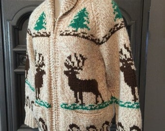 50s Christmas Cowichan Sweater