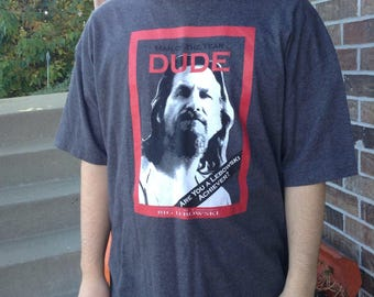 Vintage Big Lebowski The Dude tshirt size 2x free domestic shipping