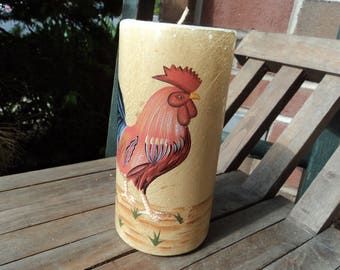Rooster pillar candle