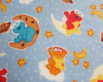 Sesame Street, Extra large flannel receiving blanket, swaddling blanket, gender neutral, for baby boy or baby girl, reusable gift wrap
