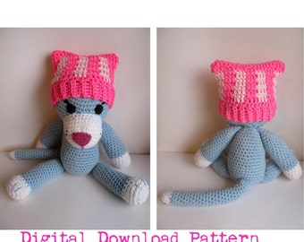 Crochet Newborn Pussyhat Digital Download PATTERN/ Cat Ear Baby Hat Pattern / Pattern for Newborn Pussyhat  / Pussyhat Project Baby Pattern