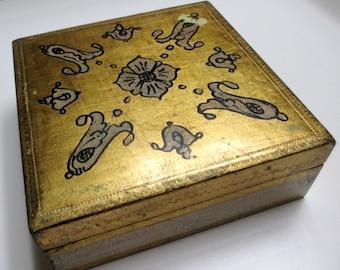 Vintage Gilded Florentia Italian Box