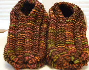 Slippers-Mens Fall Colors Extra Thick Knitted