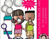 Blowing Bubbles clip art Mini Set