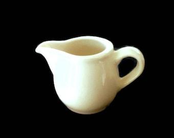 Ironstone Creamer, Miniature Pitcher, Hostess Gift Bauscher Weiden Bavaria White China Collectible