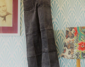 Vintage flared corduroy pants grey - Teenagers EU146