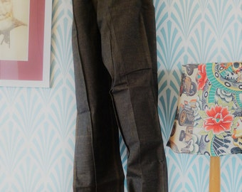 "27. Rare 50s JSB James Dean denim pants with tag (W35-L108cm / W13.8-L42.5"")"