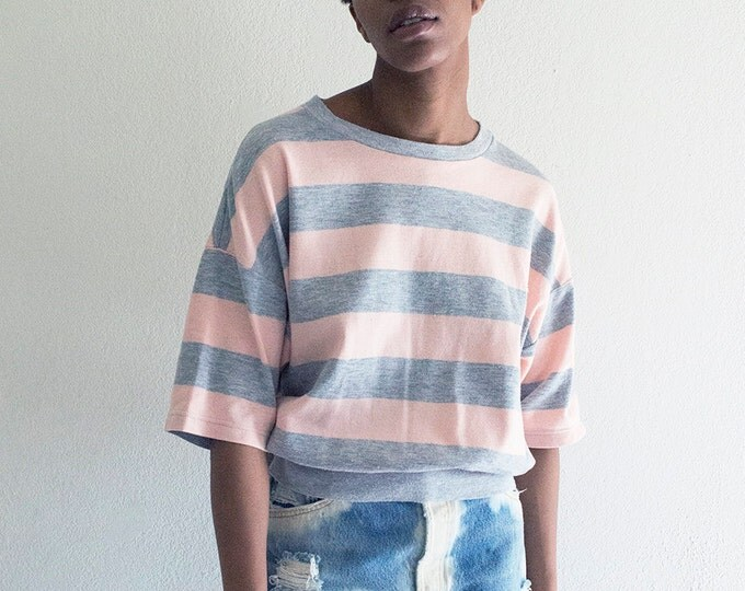 80s Pink Striped Shirt