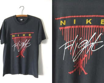 Bootleg Nike FLIGHT AiR Jordan Vintage Tee - Screen Stars Best 90s Hip Hop Throwback NBA Basketball T Shirt - Vintage Mens Large