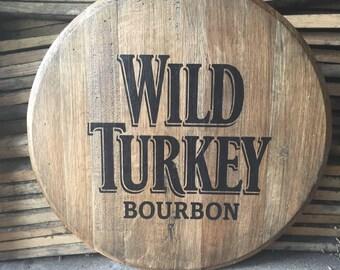 Wild Turkey Bourbon Whiskey barrel head