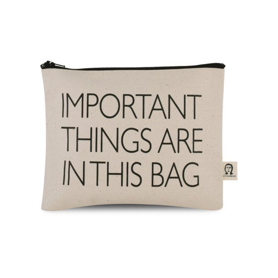 important things are in this bag pouch