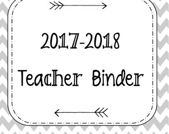 HUGE SALE!!! 2017-2018 Teacher Planner. Teacher Binder. School Binder. 2017-2018 School Year. Calendar.