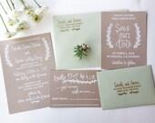 Wedding Invitation Stamp Suite - Wedding Invitation, RSVP and Address Stamp - Custom Wedding Invite - Invitation Stamp - Laurel H6100