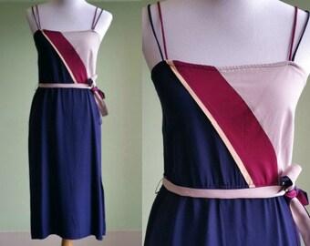 """1970s Disco Dress - Vintage 70s Evening Dress - 31"""" Waist Medium"""