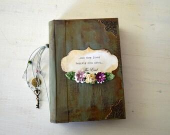 Boho wedding guest book bride's journal bride's maid gift vintage wedding handmade journal scrapbook  journal diary junk journal photo album