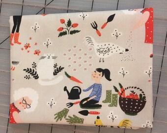 Windham Fabrics - FAT QUARTER cut of Dinara Mirtalipova - Gardening - Scenic in Stone #41334-2