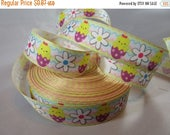 "Baby Easter chick Easter ribbon, Easter 7/8"" Ribbon by the yard, RN14821"