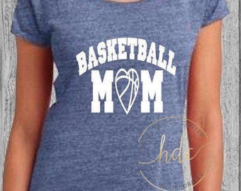 Basketball Mom Shirt/Womens Basketball/Mom Life/Mom Shirt/Basketball/Mom Basketball/Womens Scoop Tee