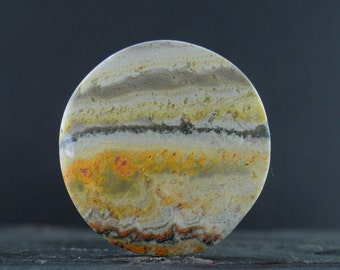 Bumble bee jasper round  cabochon , Natural stone, Jewelry making supplies B6695