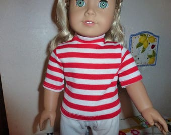 "18""Doll Knit Top and White Pants Outfit for 18""American Girl 18""Madame Alexander 18""Gotz  18""Our Generation 18""Journey and other 18"" dolls"