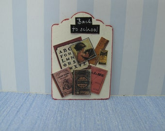 Dollhouse Exhibitor school material for shops or children's rooms back to school , children book handmade,