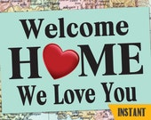 InstantDOWNLOAD LDS Welcome Home BANNER / LDSHomecoming Poster / Deployment Poster / Any Size! / #WelcomeHome #Missionary #LDSMission