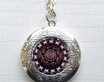 Mandala Locket, Artistic Mandala Personal locket, Personal Mandala Jewelry