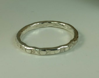 Fine Silver Stack Ring