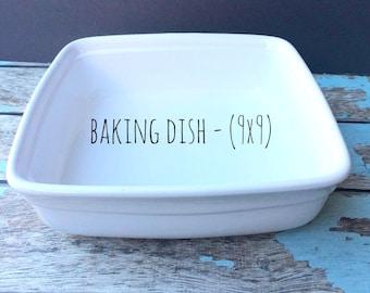 9x9 Baking Pan - oven safe