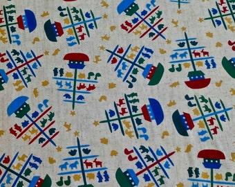 Noah's Arc Print Fabric 3 yd x 44 in