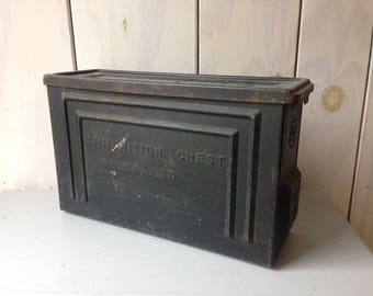 Rustic Ammunition Box, Black Card Box, Industrial Decor