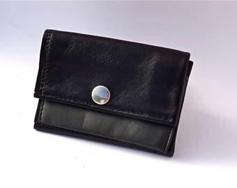 Leather Wallet Men, Black Leather Wallet, Leather Card Holder, Leather Coin Purses, Men Wallet