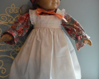 18 inch doll historical long dress and pinafore by Project Funway on Etsy
