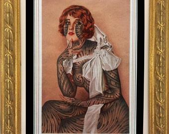 Ramon Maiden original framed drawing